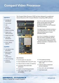 Compact Video Processor