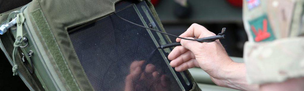 General Dynamics Vehicle Tablet Screen